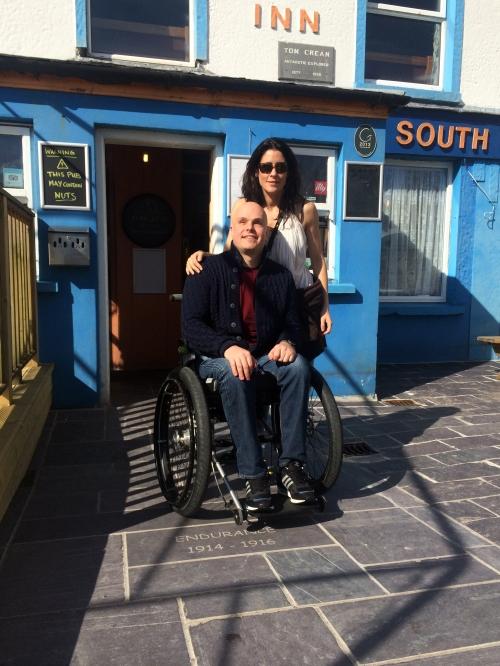 Mark and Simone outside The South Pole Inn